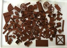 Lego 150 Pc Lot Dark Reddish Brown~Specialty, Bricks, Wagon Wheels~Modern Color