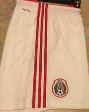 NWT adidas Mexicana de Futbol 2014 World Cup Official Soccer Shorts White Red XL