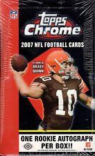 (1) 2007 Topps Chrome Football Factory Sealed Hobby Box (24 Packs)