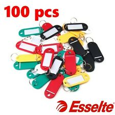 100 Esselte Key safe Key ring tags bright colours with ID label Keyring