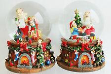 2 x Schneekugel mit Schnee u. Glitzer H:14 cm,Spieluhr mit Lied
