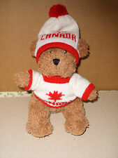 "Creature Comforts Plush Stuffed CANADA BEAR w/Sweater and Hat 9.5"" tall"