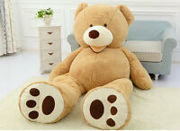 160cm Big Teddy Bear Plush Soft 63'' Toy Doll Shell Cover Zipper No Cotton Newly