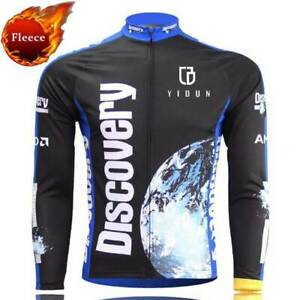 Discovery Channel Cycling Thermal Fleece Jersey Men's Winter Bike Cycle Shirt