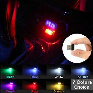 1PC Mini USB LED Car Interior Light Neon Atmosphere Ambient Lamp Bulb Accessory