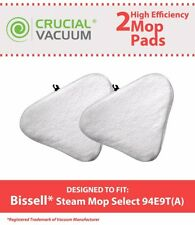 2 REPL Bissell Steam Mop Select Hard Surface Cleaner 94E9T Mop Pads Part # 76B2A