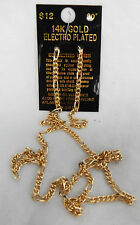 "Gold Plated 30"" Figaro Chain Necklace - 14ct Gold Plated - BNWT (C)"