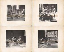 Lot of 4 Vintage Nude Models Grecian Bathing Theme Vintage Photos Reprints