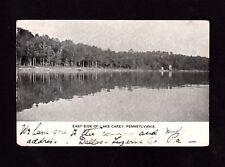 Postcard Lake Carey East Side of Lake  Wyoming County PA