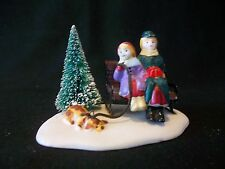 Lemax 1994 Dickensvale Porcelain Park Bench People Accessory Tree Dog 53148
