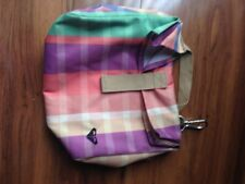 ROXY INSULATED COOLER SCHOOL LUNCH BOX BAG TOTE ZIPPERED BLUE ORANGE