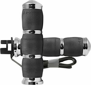 """Avon AIR Cushion Heated 1"""" Grips for Indian Chrome (MT-IN-AIR-90C-H)"""