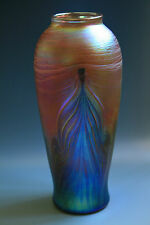 Bohemian Art Nouevau Jugendstil Glass Vase Iridescent Glass