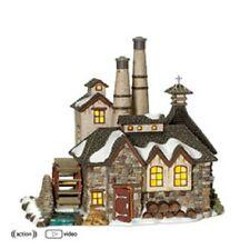 "Dept. 56 Dickens' Village ""London Gin Distillery"" ~ Animated Waterwheel ~Mib"