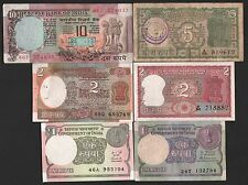 indian currency  10 + 5 RS 4 deer  + 2  + 2 + 1 + 1  rs  MINI  six  notes  set