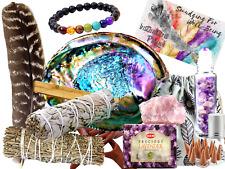 Sage Smudge Kit: ULTIMATE 12 Piece Spiritual Gifts Variety Smudging Kit