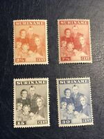 Suriname Dutch Sc#176-179, MH. Birth of Princess Margriet Francisca,1943