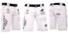 Geographical Norway Men's Cargo Shorts short Bermuda Belt Knee Length