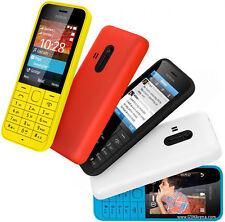 Refurbished Nokia 220 - Black (Unlocked) Cellular Phone Dual Sim GSM Bar 2MP MP3
