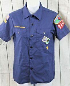 Boy Scouts of America Cub Boys Shirt Size 14 Uniform Official USA Patches Boy's