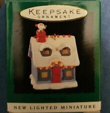 1995 Santa's Visit Lighted Miniature Hallmark Christmas Tree Ornament New!