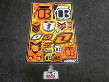 KTM SX/SXF Orange Brigade one industries universal graphic decal sheet 1G09