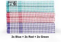 6X Wonderdry Tea Towels Quick Dry 100% Cotton Kitchen Cloth Bar Hotel Dishcloth