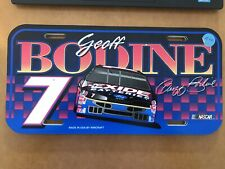Geoff Bodine #7 Exide Batteries Ford Wincraft License Plate
