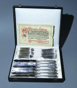 WMF 200 Kreuzband -- 6 Gabeln + 6 Messer --- in Besteckschachtel  --- versilbert