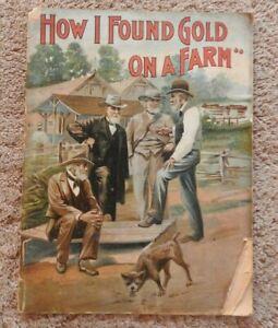 "1897 MILWAUKEE HARVESTER ""HOW I FOUND GOLD ON A FARM"" PRE INTERNATIONAL RARE"