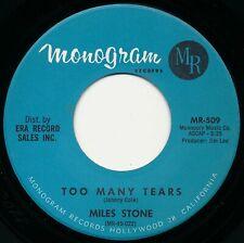 R&B/ Soul Miles Stone Too Many Tears 45 nm 1963 nice copy!