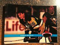 Mario Lemieux Penguins 1991 Stadium Club Members Only RARE JUMBO NO FOIL PROOF