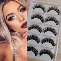 Makeup 5Pairs 100% Mink Natural Thick False Fake Eyelashes Eye Lashes Extension
