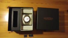 OROLOGIO WATCH ROAMER MECHALINE EOS SWISS eta 2836-2 Day/date SILVER/GOLD tone