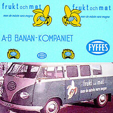 VW T1 Bus FYFFES Bananen for Tekno Model 1:43 Decal Abziehbild