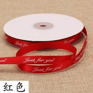 Floral Flowers Ties Gifts Wrapping Cake Ribbon Decorations Just For You Printing