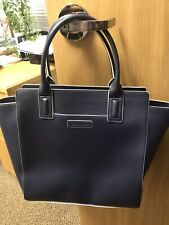 Vera Bradley Vegan Leather Navy Blue X-Large Tote Purse NWOT