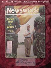 NEWSWEEK September 21 1964 Sept Sep 64 MAXWELL TAYLOR VIETNAM +++