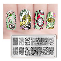 BORN PRETTY Rectangle Nail Art Stamping Plate Fruit Pattern Tropical Punch-L001