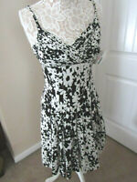 NWT $149 SUZI CHIN FOR MAGGY BOUTIQUE BLACK&WHITE FLORAL SILK DRESS SIZE 4