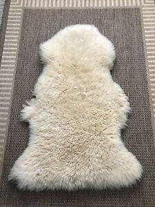 Genuine Sheepskin Rug Off White Sheep Skin Fur Sheep Rug 2 X 3 ft