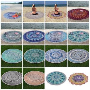 "Bohemian Mandala Round Beach Tapestry Hippie Yoga Mat Towel Indian Roundie 72"""