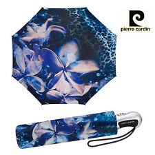 Pierre Cardin Diseñador Para Mujer Paraguas Plegable Flor Orquídea, Auto abrir/cerrar.