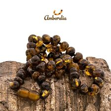 Baltic Amber Necklace Dark Green - Sizes for all family! - Boost Immune System