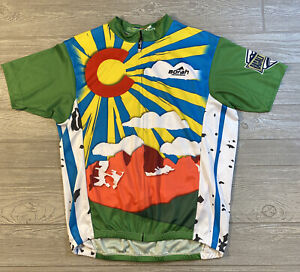 Borah Teamwear Men's Cycling Jersey  Colorado Size XL Full Zip
