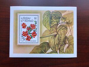 Antigua & Barbuda 1984 Scott #759 Souvenir Sheet Flowers Mint NH