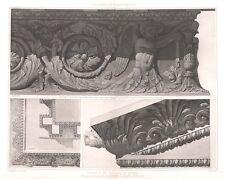 64 ~ TEMPLE OF SOLIS INVICTUS SUN GOD Rome ~ 1905 Architecture Detail Art Print