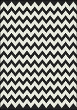 "8x11 Milliken Vibe Black Modern Striped Chevron Area Rug - Approx 7'8""x10'9"""