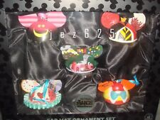 Disney Park Alice In Wonderland  Mickey Ear Hat Ornament Box Set of 5 NEW
