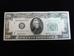Uncirculated $20.00 1950 Chicago  Federal Reserve Note